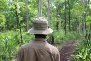 On patrol with the snare team in Keo Seima Wildlife Sanctuary. Photo credit: Harriet Ibbett